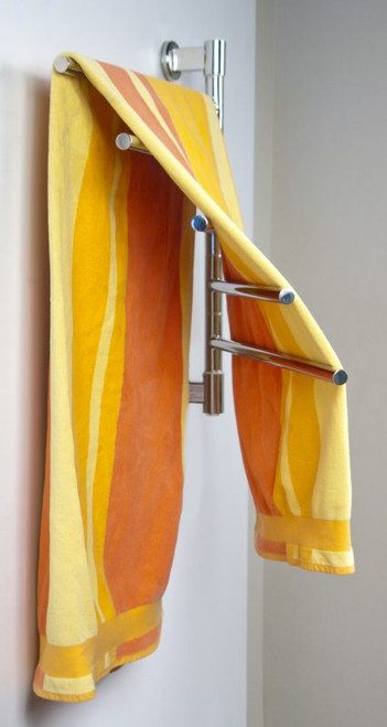"""Swivel Collection - Model Jack D005 - Brushed - Heated Towel Rack 21"""" x 25"""""""