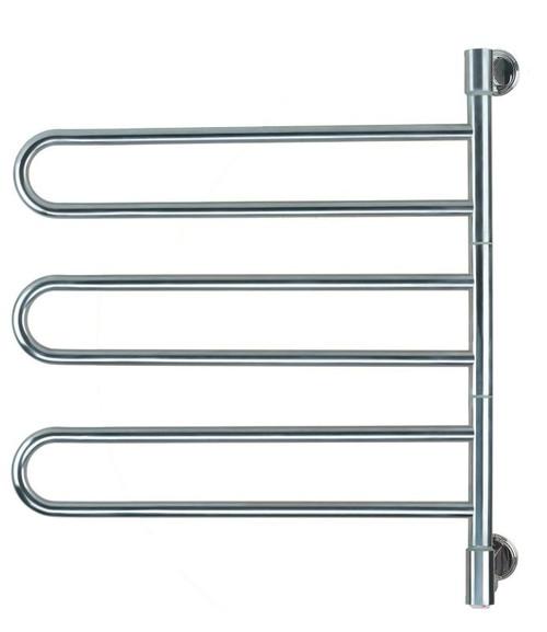 "Swivel Collection - Model Jill B003 - Brushed - Heated Towel Rack 25"" x 29"""