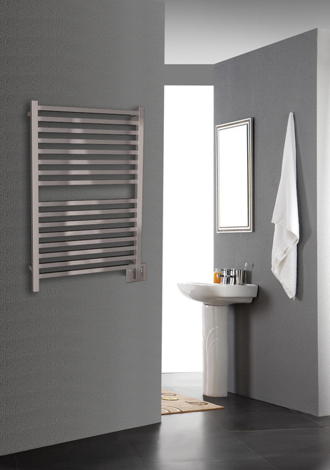 """Quadro Collection - Model Q 2842 - Brushed - Heated Towel Rack 28"""" x 42"""""""