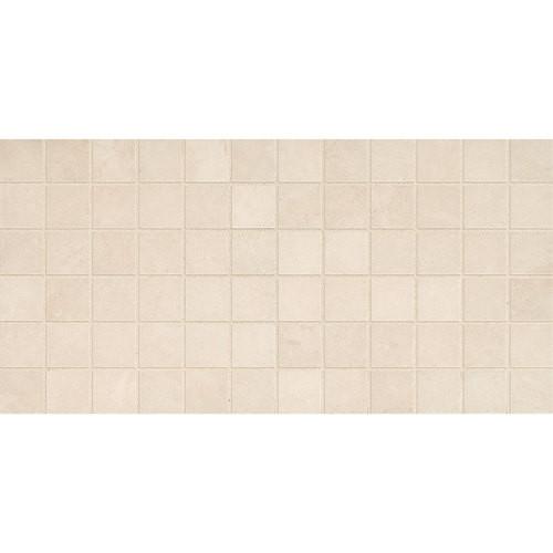 "Affinity - Cream Ceramic Mosaic 2"" x 2"" On 12"" x 24"" Sheet"