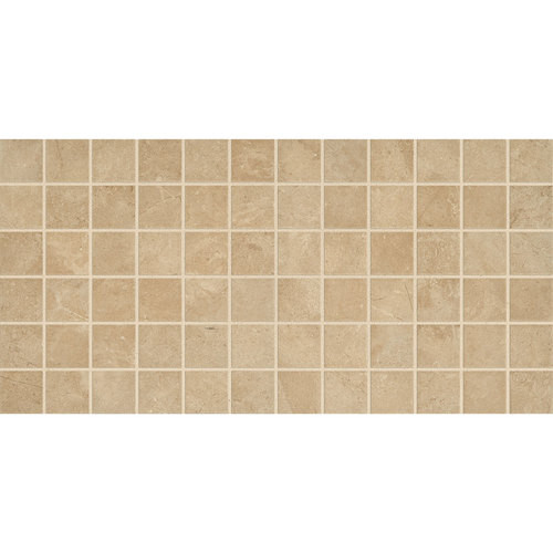"Affinity - Beige Ceramic Mosaic 2"" x 2"" On 12"" x 24"" Sheet"