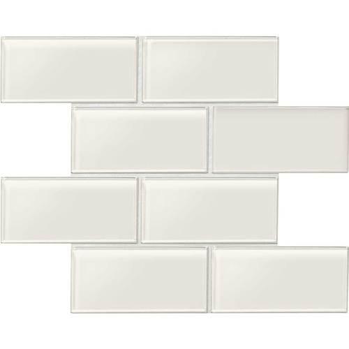 "Amity - White Subway Glass Tile 3"" x 6"""