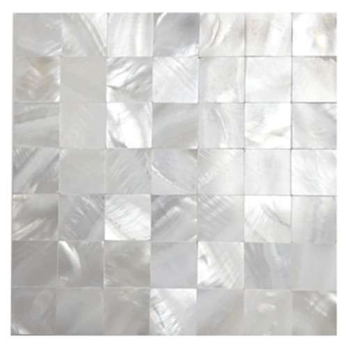 Mother of Pearl Super White Pearl Tight Joint Mosaic 5/8x5/8 on 12x12 Sheet (PWT02-1717)