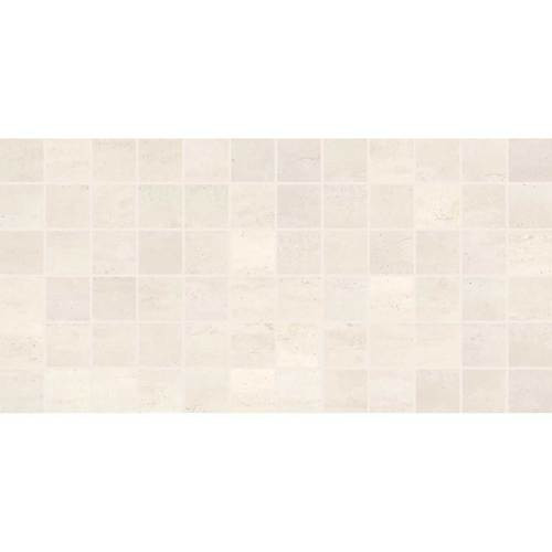 "Cove Creek - Off White Ceramic Mosaic 2"" x 2"" On 12"" x 24"" Sheet"