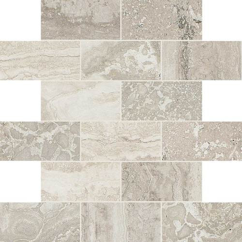 Exquisite Collection - Chantilly Brick Joint Mosaic 2x4 On 12x12 Sheet