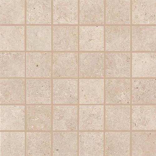 Haut Monde Collection - Aristocrat Cream Polished Porcelain Mosaic 2x2 On 12x12 Sheet