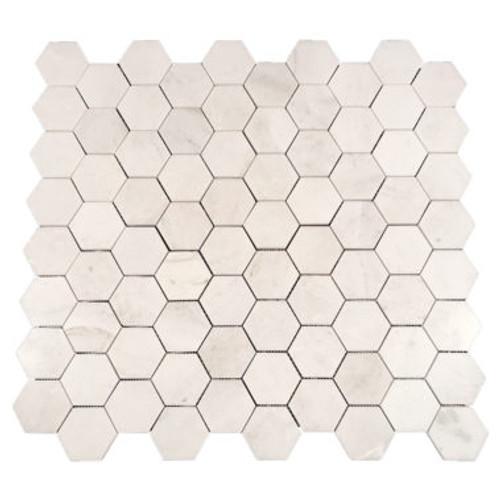 """Eastern White Honed Hexagon 2.75"""" (SWEEHEXHON)"""