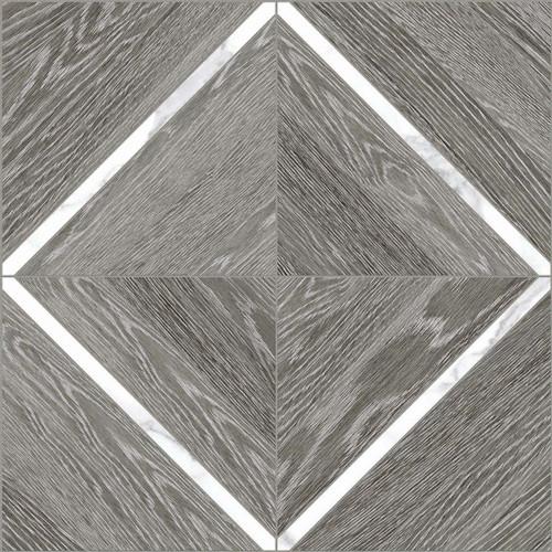 Aspen Grey Ridge with Statauario 16x16 Marquetry Mosaic