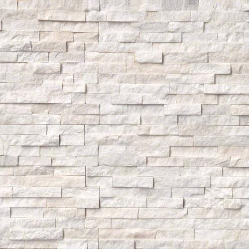 Ledger Panel Arctic White Splitfaced Panel 6x24 (LPNLQARCWHI624)