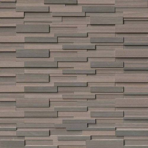 Ledger Panel Brown Wave 3D Honed Panel 6x24 (LPNLDBROWAV624-3DH)