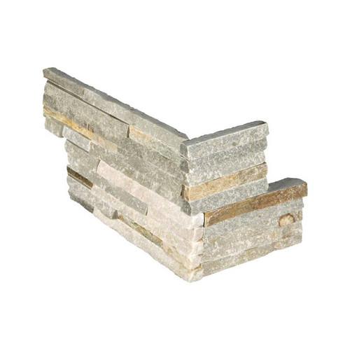 """Ledger Panel Golden Honey Pencil Splitface """"L"""" Corner 6x12x6 (LPNLQGLDHON618COR-PEN)"""