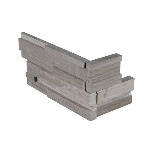 """Ledger Panel Gray Oak 3D Honed """"L"""" Corner 6x12x6 (LPNLMGRYOAK618COR-3DH)"""