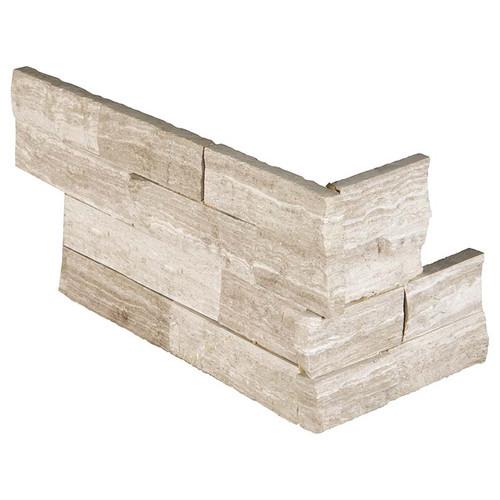 """Ledger Panel White Oak Splitface """"L"""" Corner 6x12x6 (LPNLMWHIOAK618COR)"""