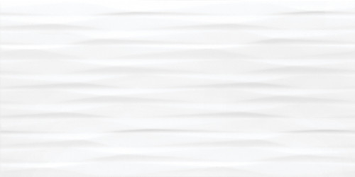Linea Modulation 12x24 White Sculpted Glossy Rectified Wall Tile (69-983)