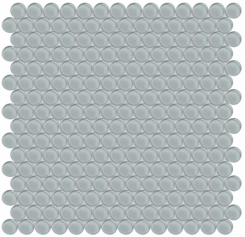 Element Shadow Penny Round Glass Mosaics (35-104)