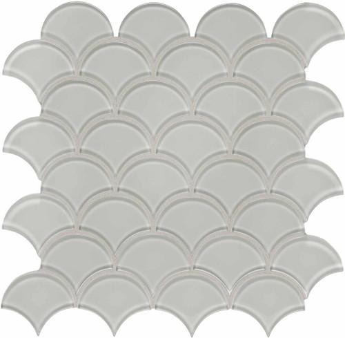 Element Mist Scallop Glass Mosaics (35-107)