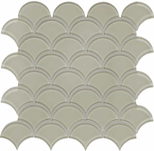 Element Earth Scallop Glass Mosaics (35-109)