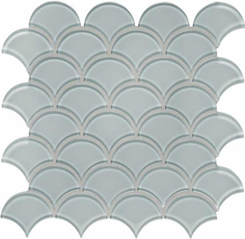 Element Cloud Scallop Glass Mosaics (35-111)