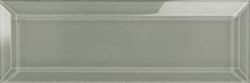 Element Smoke 3x9 Beveled Glass Tile (38-020)