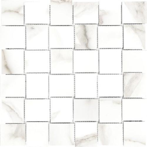 Mayfair Calacatta Oro 2x2 HD Basketweave Porcelain Mosaics (69-357)