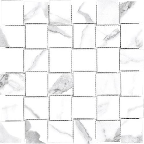Mayfair Statuario Venato 2x2 HD Basketweave Porcelain Mosaics (69-358)