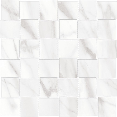 Mayfair Volakas Grigio 2x2 HD Basketweave Porcelain Mosaics (69-359)