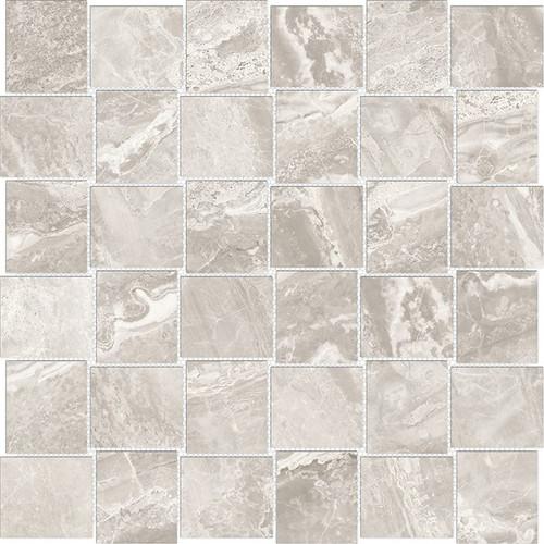 Mayfair Stella Argento 2x2 HD Basketweave Porcelain Mosaics (69-360)