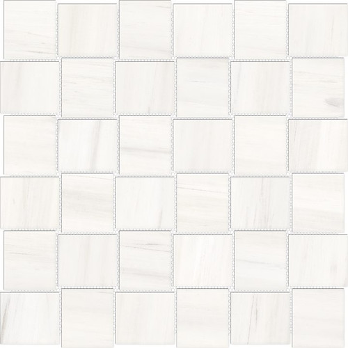 Mayfair Suave Bianco 2x2 HD Basketweave Porcelain Mosaics (69-962)