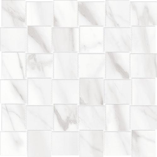 Mayfair Volakas Grigio 2x2 HD Basketweave Polished Porcelain Mosaics (69-906)