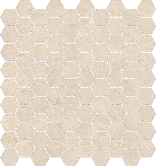 Mayfair Allure Ivory 1.25x1.25 HD Hexagon Polished Porcelain Mosaics (69-926)