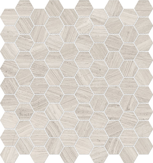 Mayfair Strada Ash 1.25x1.25 HD Hexagon Polished Porcelain Mosaics (69-963)
