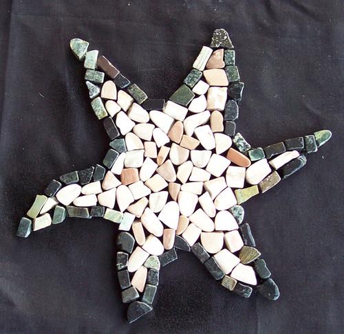 Exotics Ebony Star Fish Sea Creature Mosaic (TOEEBOSTAFISH)