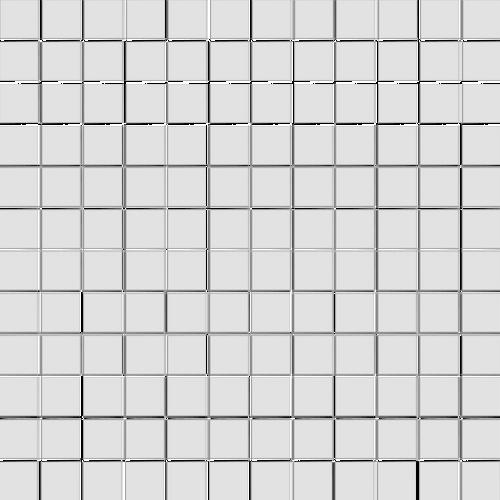 CC Mosaics - Matte White 1x1 Squares Mosaic 12x12 (UFCC130-12M)