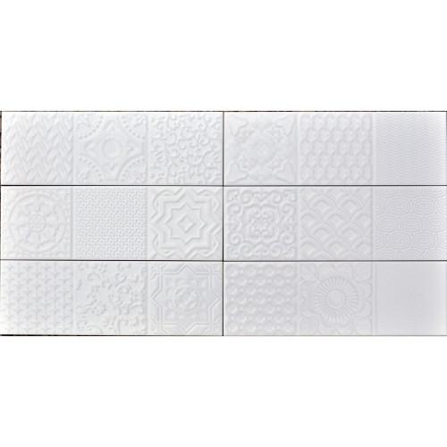 Camden White Mixed Deco 4x12 (IFSDECOCW)
