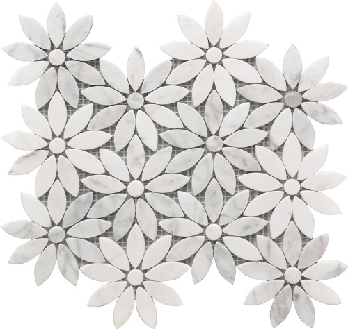 Daisy Flower Marble Mosaic 10x12 (USTMMFLO004)