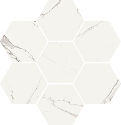 Statuario High Honed Finish Hexagon Mosaic 11.8x11.1 (VSTATHEXM)
