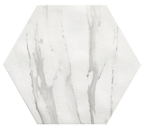 Roma Statuario Hexagon 10x8 Floor Tile (ROSTESAGONO)