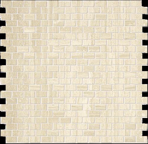 Roma Travertino Brick Mosaic 1/2x7/8 (ROTRMOSBRICK)