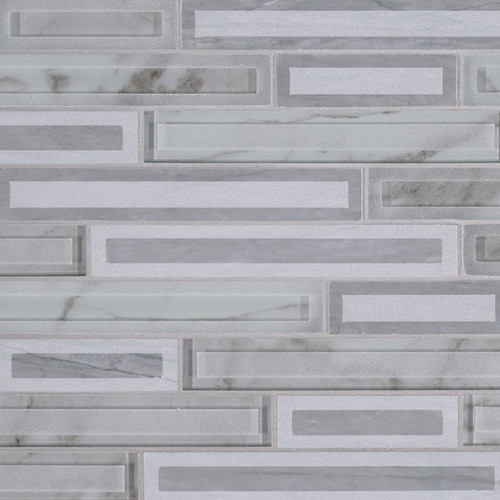 Blocki Grigio Interlocking Patterned Mosaic (SMOT-SGLSIL-BLOGRI8MM)