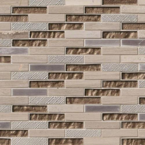 Diamante Brick Patterned Mosaic (SMOT-SGLSMT-DIA8MM)