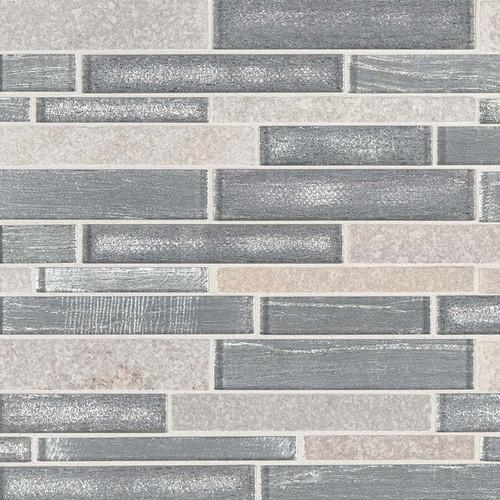 Evita Ice Interlocking Patterned Mosaic (SMOT-SGLSIL-EVICE8MM)
