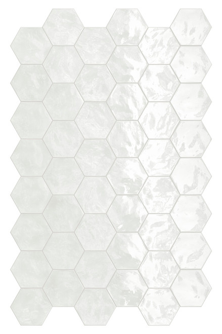 Hexa Lemon Sorbet Glossy Hexagon 6x7 Wall Tile (HXLSHEXGL)