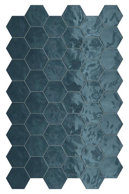 Hexa Ocean Wave Glossy Hexagon 6x7 Wall Tile (HXOWHEXGL)