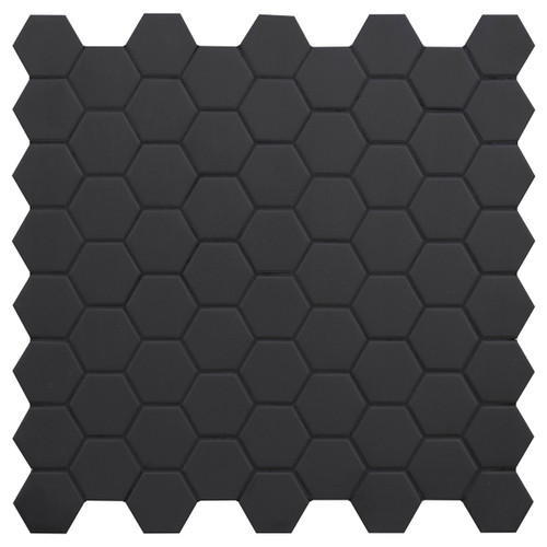 Hexa Black Swan Matte Hexagon Mosaic (HXBSMATMOS)
