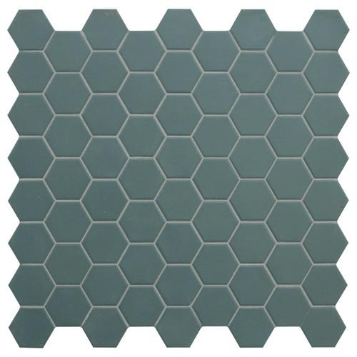 Hexa Green Echo Matte Hexagon Mosaic (HXGEMATMOS)