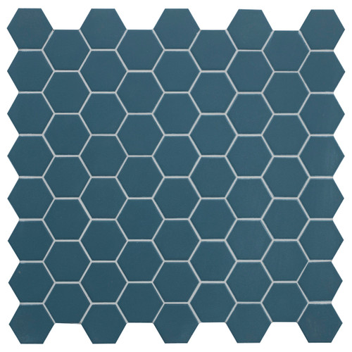 Hexa Ocean Wave Matte Hexagon Mosaic (HXOWMATMOS)