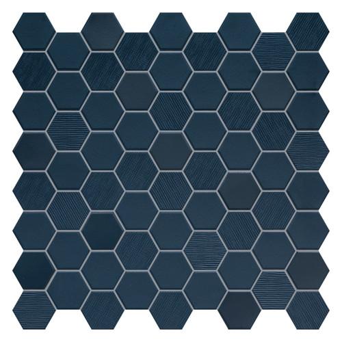 Hexa Deep Navy Hexagon Mixed Mosaic (HXDNMIXMOS)
