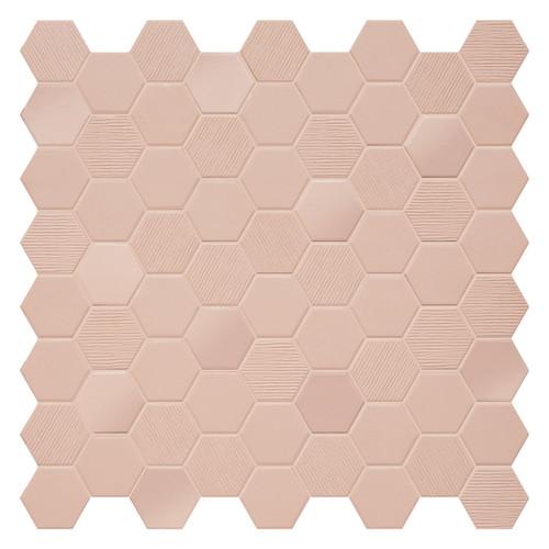 Hexa Rosy Blush Hexagon Mixed Mosaic (HXRBMIXMOS)
