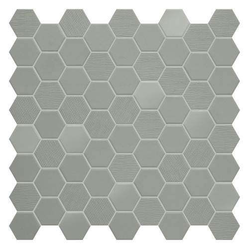 Hexa Wild Sage Hexagon Mixed Mosaic (HXWSMIXMOS)