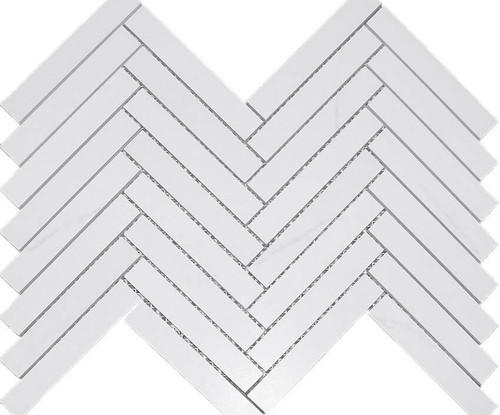 Dolomite Matte Herringbone 1X6 Mosaic (DOLOHERR16M)